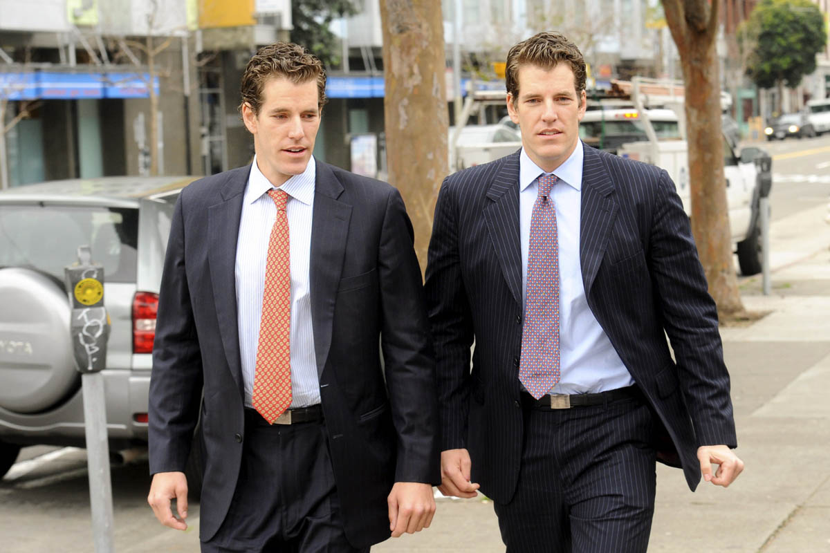 As Bitcoin booms, the Winklevoss Twins' investment could close in on $1 billion dollar value